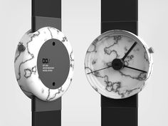 Personal watch project made out of marble / Prehistoric modernity / Design / Daniel Farmer / 2015 / Looking for a manufacturer Casual Watches, Cool Watches, Marble Watch, Cool Clocks, Keep It Simple, Oclock, Objects, Design Inspiration, Cool Stuff