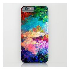 Welcome To Utopia Bold Rainbow Multicolor Abstract… iPhone 6s Case (2.070 RUB) ❤ liked on Polyvore featuring accessories, tech accessories, phone cases, phone, electronics, tech and iphone & ipod cases