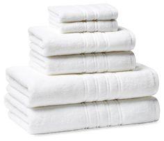 6-Pc Alessio Towel Set, White