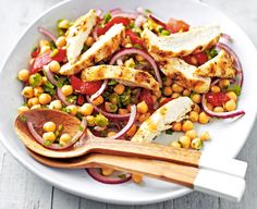 Coriander and lime chicken with chickpea salad.  | Tesco