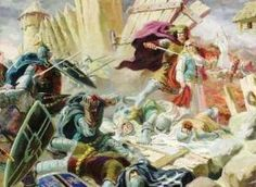 Destruction of the Baltic pagan temple of Romuva by the Christian Teutonic Knights