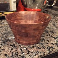 Special order for segmented Walnut bowl.  Visit our website wacowoodworks.com #wacowoodworks #walnut #woodbowl #woodworking