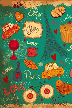 Paris, the city of love, wallpaper for Android or iPhone. #mobilewallpaper
