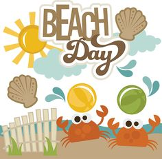 Beach Day - SVG Scrapbooking Files