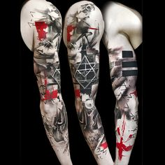 "3,227 Likes, 46 Comments - Buena Vista Tattoo Club (@buenavistatattooclub) on Instagram: ""TrashPolka® by Simone Pfaff & Volko Merschky  #trashpolka @buenavistatattooclub #volkomerschky…"""