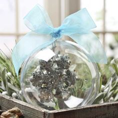 140mm Clear Acrylic Fillable Ball Ornament