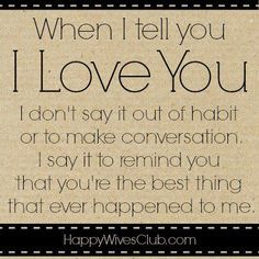When I Tell You I Love You