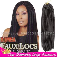 16strands/pack 18inch Bomba Faux Locs Dread braids Soft dreadlock crochet hair extensions freetress dreadlocks synthetic dreads     #http://www.jennisonbeautysupply.com/    http://www.jennisonbeautysupply.com/products/16strandspack-18inch-bomba-faux-locs-dread-braids-soft-dreadlock-crochet-hair-extensions-freetress-dreadlocks-synthetic-dreads/,      Still Have Questions?       Product manual:    Length: 18inch    Weight: 80g    width: 0.5cm    Material: 100% kanekalon and toyokaon  Color…