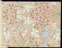William Morris - Wallpaper - Hyacinth, pattern #480 - 1915-17
