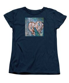 On Angel Wings Womens T-Shirt by Mary Mirabal