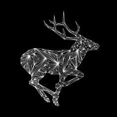 Diamond deer From Nick Vlow #illustration #animal #geometry