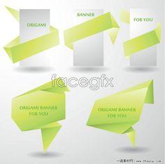 Colorful origami decorative graphic vector 4