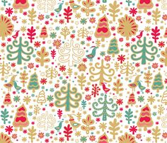 Christmas forest fabric by dariara on Spoonflower - custom fabric