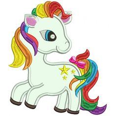 Looks Like Rainbow Dash From My Little Pony Applique Machine Embroidery Design Digitized Pattern