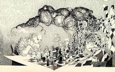 """""""Morceaux de pensée(s) globulaire(s)"""" Encre / papier 6M (41 x 24) 06/03/2004 inachevé"""