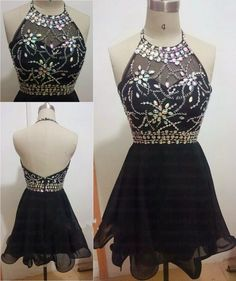 Black Short Prom Dresses 2015 Cheap Homecoming Dress Halter Cocktail Party Gowns in Clothing, Shoes & Accessories, Wedding & Formal Occasion, Bridesmaids' & Formal Dresses | eBay