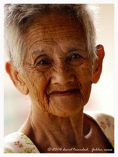 Aging Gracefully...talk about transcendent beauty. The kindness and love shimmers in her gaze.
