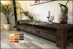 Palettenmöbel TV Sideboard Kommode mit einer Länge von 180 cm Table, Furniture, Interior, House, Storage Bench, Home Decor, Entryway, Entryway Tables, Deco