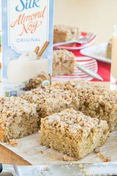 Gluten-Free & Dairy-Free Eggnog Crumb Cake - the aroma of cinnamon and nutmeg will have the family running out of bed for those holiday morning breakfasts.