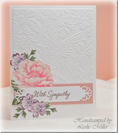 Stampin' Up! ... hand crafted sympathy card ... Stipple blossoms ... gorgeous embossing folder from Anna Griffith ...