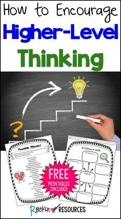 Today we will be presented with fantastic ideas from Pam of Rockin Resources. She shares some effective techniques along with free samples from her Higher-Level Thinking product.