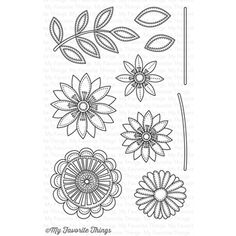 My Favorite Things FUNKY FLOWERS Clear Stamps CS111