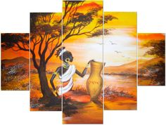 dibujos de africanas para imprimir - Buscar con Google Black Women Art, Black Art, Multiple Canvas Paintings, African Paintings, Africa Art, 3d Prints, African American Art, Big Canvas, Beautiful Sunset