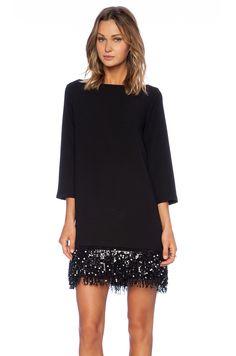 Kate Spade New York Sequin Fringe Mini Dress Black Shift Silhouette Women's Sz 8 Trendy Dresses, Elegant Dresses, Nice Dresses, Casual Dresses, Short Dresses, Fashion Dresses, V Dress, Sequin Dress, Party Dress