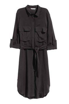 Vestido camiseiro - Preto - SENHORA | H&M PT