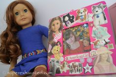 Photograph the girls and their dolls and have them decorate frames to hold the photos. Get American Girl Doll stickers from Michaels. This could also be a place where they put 'award' stickers from games.