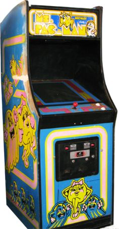 Ms. Pacman Arcade Machine.