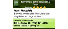 Enjoyed a wonderful birthday dinner with tasty dishes and large portions.