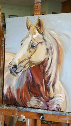 Palomino horse painting horse oil painting by FreeReinArtStudio Horse Wall Art, Horse Artwork, Canvas Artwork, Horse Drawings, Art Drawings, Horse Oil Painting, Equine Art, Animal Paintings, Horse Paintings