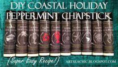 ArtSea Chic: DIY Coastal Holiday Peppermint Chapstick - Plus FREE Printable Labels!