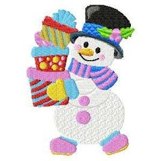 Free Embroidery Design: Snowman