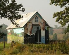American Gothic Barn by Silos & Smokestacks National Heritage Area, via Flickr