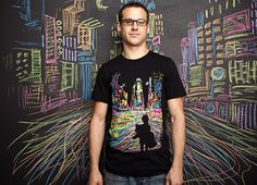 Busy Cities and Tall Buildings on T-shirt Prints