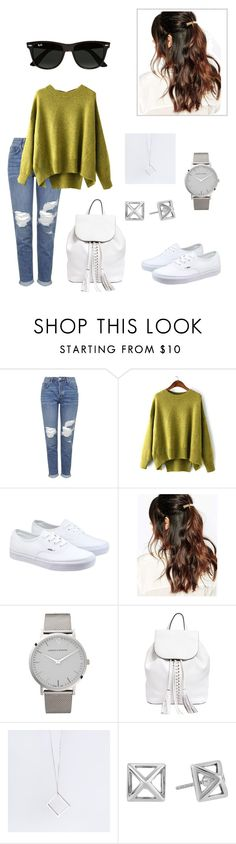 """""""Street Style."""" by danniela2699 ❤ liked on Polyvore featuring Topshop, Vans, Suzywan DELUXE, Larsson & Jennings, Rebecca Minkoff, B KREB and Ray-Ban"""