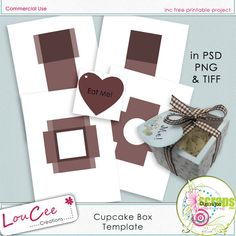 free printable - cute cupcake box