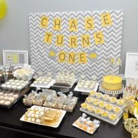 Yellow and Gray Elephant Themed Birthday Party - On to Baby