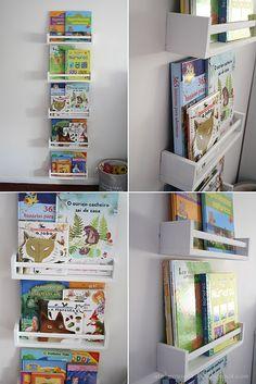 Atelier no Sótão...: Prateleiras para livros em quarto infantil