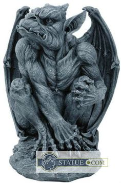 A Gothic Sentinel Gargoyle With bat like wings, threatening jaw and flared nostrils. Statue.com's Gothic Gargoyle is ready to pounce on unsuspecting predators in your home or garden.