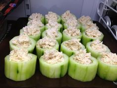 done... cucumber cups with crab salad.  fresh n crisp!