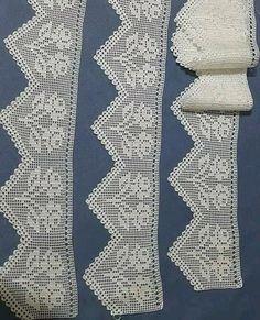 Filet Crochet, Crochet Doilies, Quilts, Blanket, Diy, Embroidery, Towel Bars, Crochet Table Runner, Crochet Curtains