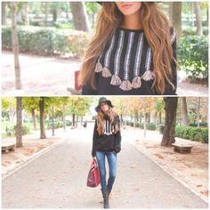 DIY Customizar tendencia azteca una camiseta. Blog de moda, costura y diy.