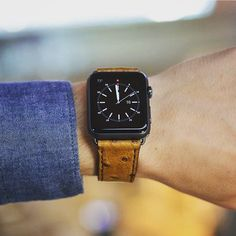 Check out this awesome ostrich strap from our friends @leluxestraps . Lose the silicon straps and get a strap to match the quality of your #applewatch . #apple #technology #watches #smartwear #leather #luxury #smartwatch #tech #wearables by newsmartwear