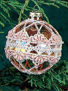 Delicate Christmas Ornaments Site requires you to register to access free pattern downloads (free service)