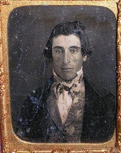 19th century Daguerreotypes… Photographs Of People, Vintage Photographs, Vintage Photos, Vintage Portrait, Antique Photos, Old Photos, Victorian Men, Vintage Gentleman, Old Portraits