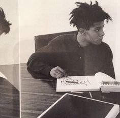 who tf was sartre anyway? Jean Michel Basquiat, Jm Basquiat, Robert Rauschenberg, Andy Warhol, Keith Haring, Radiant Child, Brooklyn Baby, Portraits, Cultura Pop