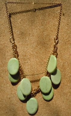Green Jade Necklace by danica1919 on Etsy
